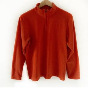 C9 Champion 1/4 Zip Fleece Orange Pullover Size XL